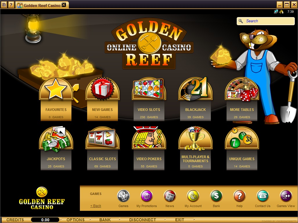 golden reef casino online